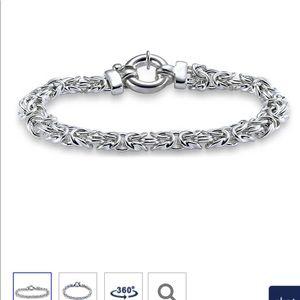 "7.5"" 9.25 Sterling Silver Braid Chain bracelet"